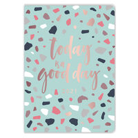 A6 Green Terrazzo 2021 Day a Page Diary