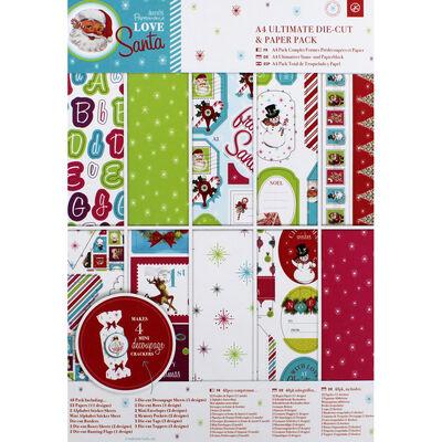 Love Santa A4 Ultimate Die-Cut and Paper Pack image number 1