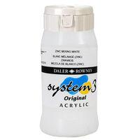 System 3 Acrylic Paint: Zinc Mixing White 500ml