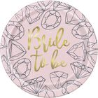 Hen Do Diamond Paper Plates - 9 inches image number 1