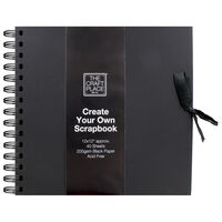 Create Your Own Black Scrapbook - 12 x 12 Inches