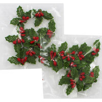 Felt Holly Embellishments Pack of 20