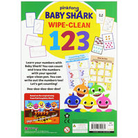 Baby Shark: Let's Learn 123 Wipe-Clean Book