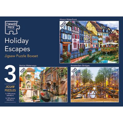 Holiday Escapes 3-in-1 Jigsaw Puzzle Set image number 1