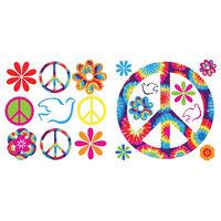 Tie Dye Peace Wall Stickers