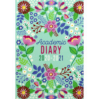 A5 Floral Day a Page 2020-21 Academic Diary