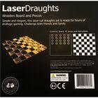 Wooden Laser Cut Draughts Set image number 2