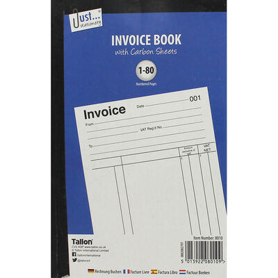 Invoice Receipt Book With Carbon Sheets image number 1