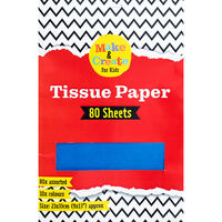 Assorted Coloured Tissue Paper: 80 Sheets