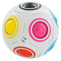 Neon Rainbow Puzzle Ball