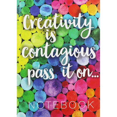 A4 Casebound Creativity Contagious Plain Notebook image number 1