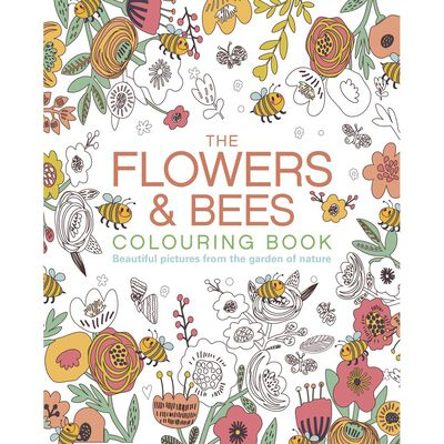 The Flowers & Bees Colouring Book image number 1