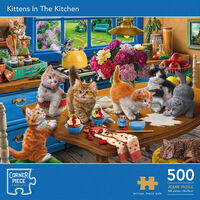 Kittens in the Kitchen 500 Piece Jigsaw Puzzle