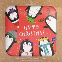 Penguin Christmas Cards: Pack of 10