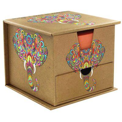 Rainbow Elephant Memo Cube image number 2