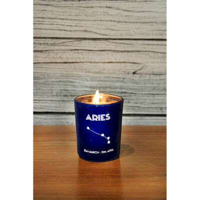 Zodiac Collection Aries Fresh Vanilla Candle image number 4