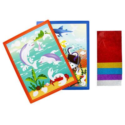 Mess-Free Glitter Art Kit - Underwater Scenes image number 2