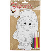 Colour Your Own Christmas Jigsaw Puzzles