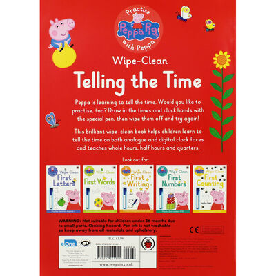 Peppa Pig Wipe-Clean: Telling the Time image number 4