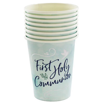 Blue First Holy Communion Paper Cups - 8 Pack image number 2