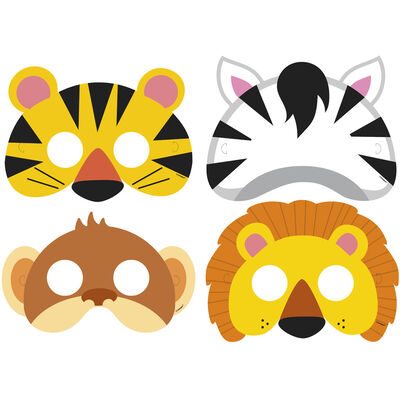 Animal Jungle Paper Party Masks - 8 Pack image number 2