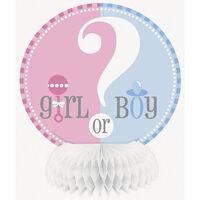 4 Gender Reveal Honeycomb Decorations