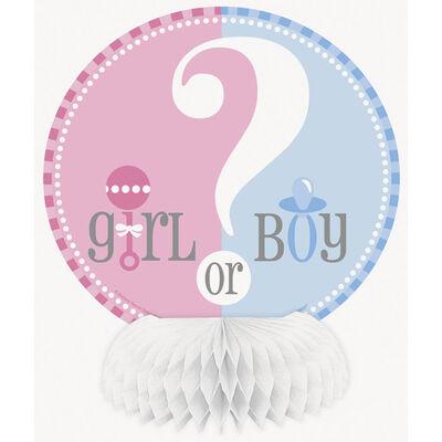 4 Gender Reveal Honeycomb Decorations image number 1