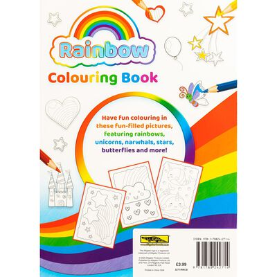 A4 Rainbow Colouring Book image number 3