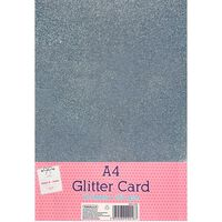 A4 Silver Glitter Card: Pack of 10