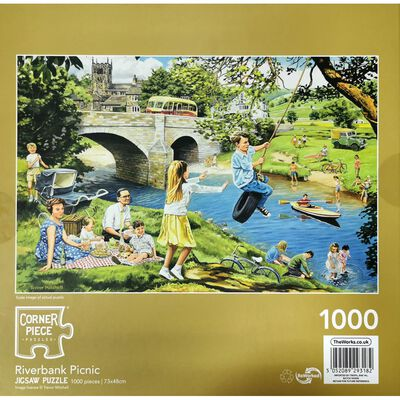 Riverbank Picnic 1000 Piece Jigsaw Puzzle image number 3
