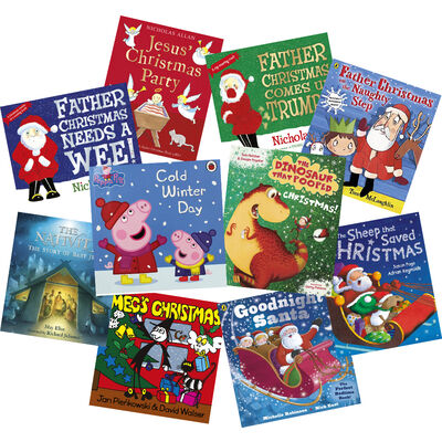Christmas with Peppa Pig and Friends : 10 Kids Picture Books Bundle image number 1