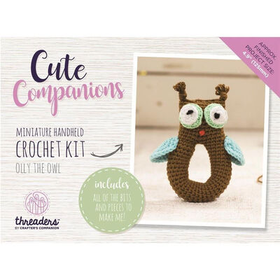 Cute Companions Miniature Handheld Crochet Kit - Olly the Owl image number 4
