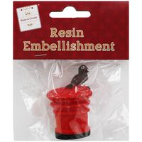 Robin Postbox Resin Embellishment