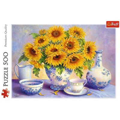 Sunflowers 500 Piece Jigsaw Puzzle image number 2
