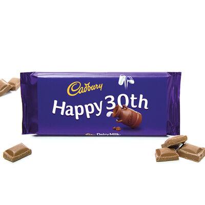 Cadbury Dairy Milk Chocolate Bar 110g - Happy 30th image number 2