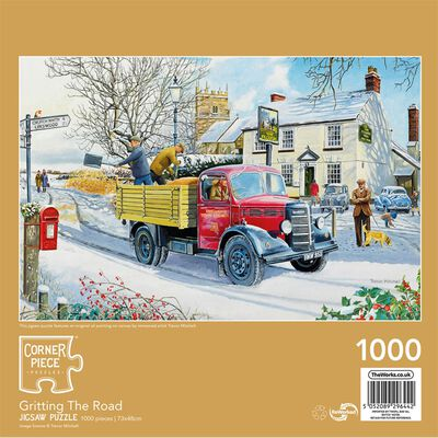 Gritting the Road 1000 Piece Jigsaw Puzzle image number 3