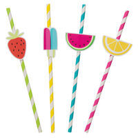Fruit Paper Straws Pack of 8