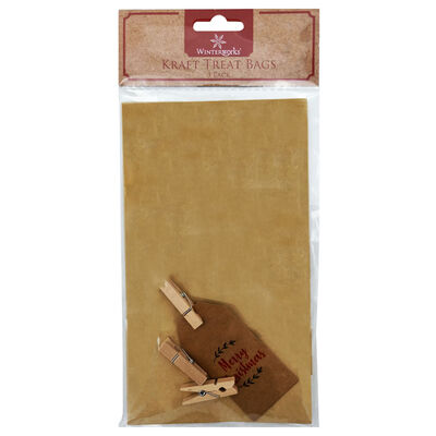 Kraft Treat Bags: Pack of 3 image number 1