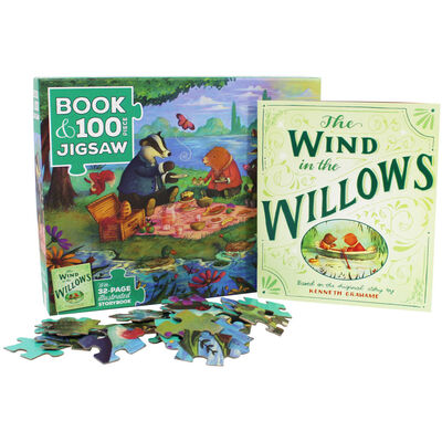 The Wind in the Willows 100 Piece Jigsaw Puzzle and Book Set image number 2