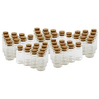 Mini Craft Glass Bottles - 50 Pack image number 3