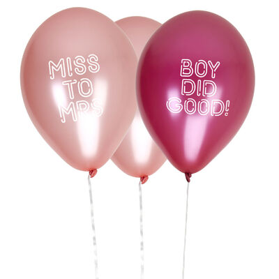8 Pink Hen Party Balloons - Boy Did Good image number 2