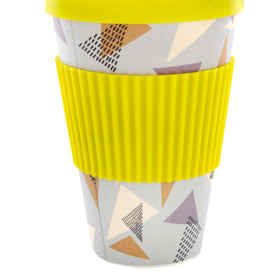 Retro Diamond Bamboo Eco Travel Mug image number 2
