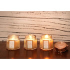 Set of 3 Fresh Cotton Scented Rose Gold Hexagon Candles image number 3
