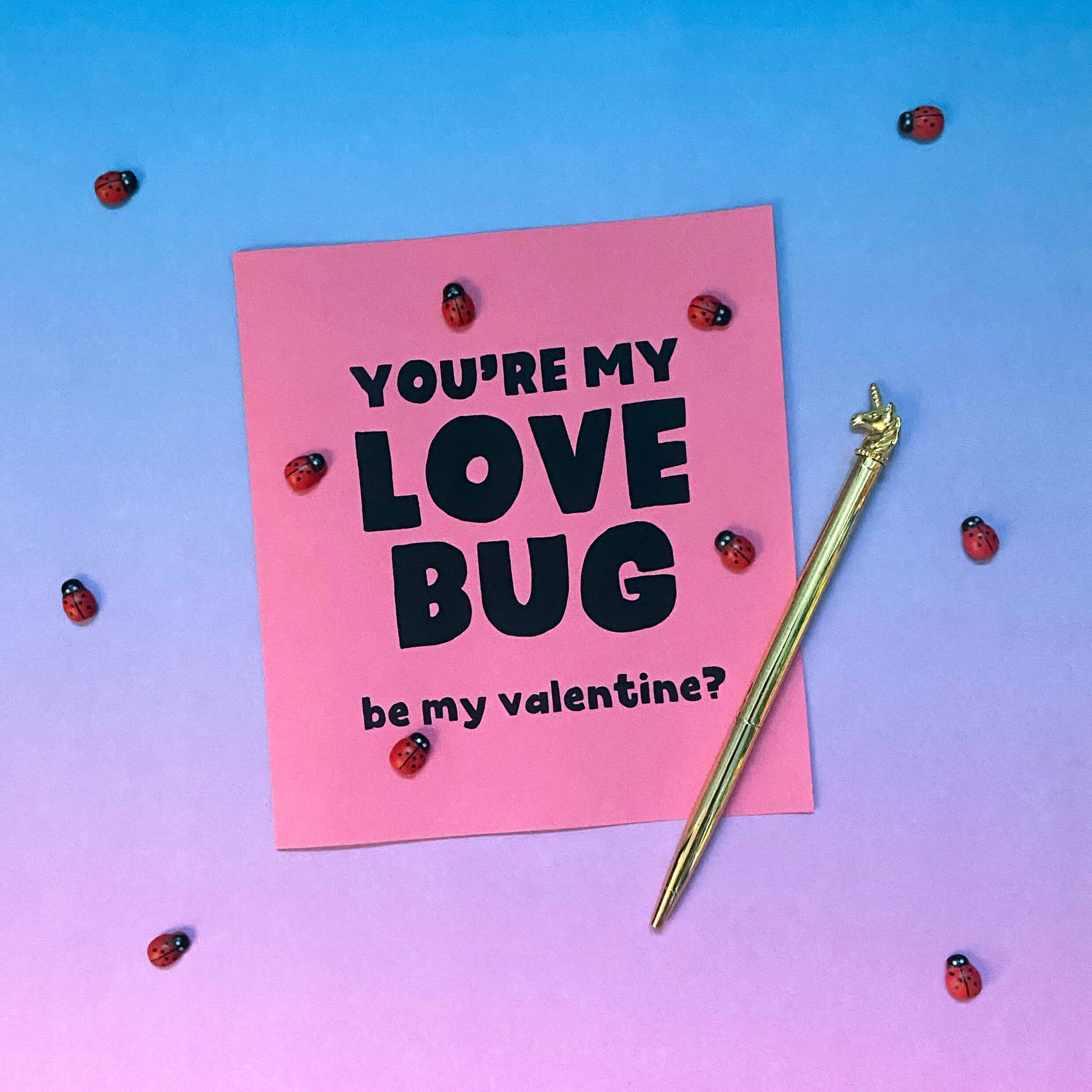 valentines love bug card