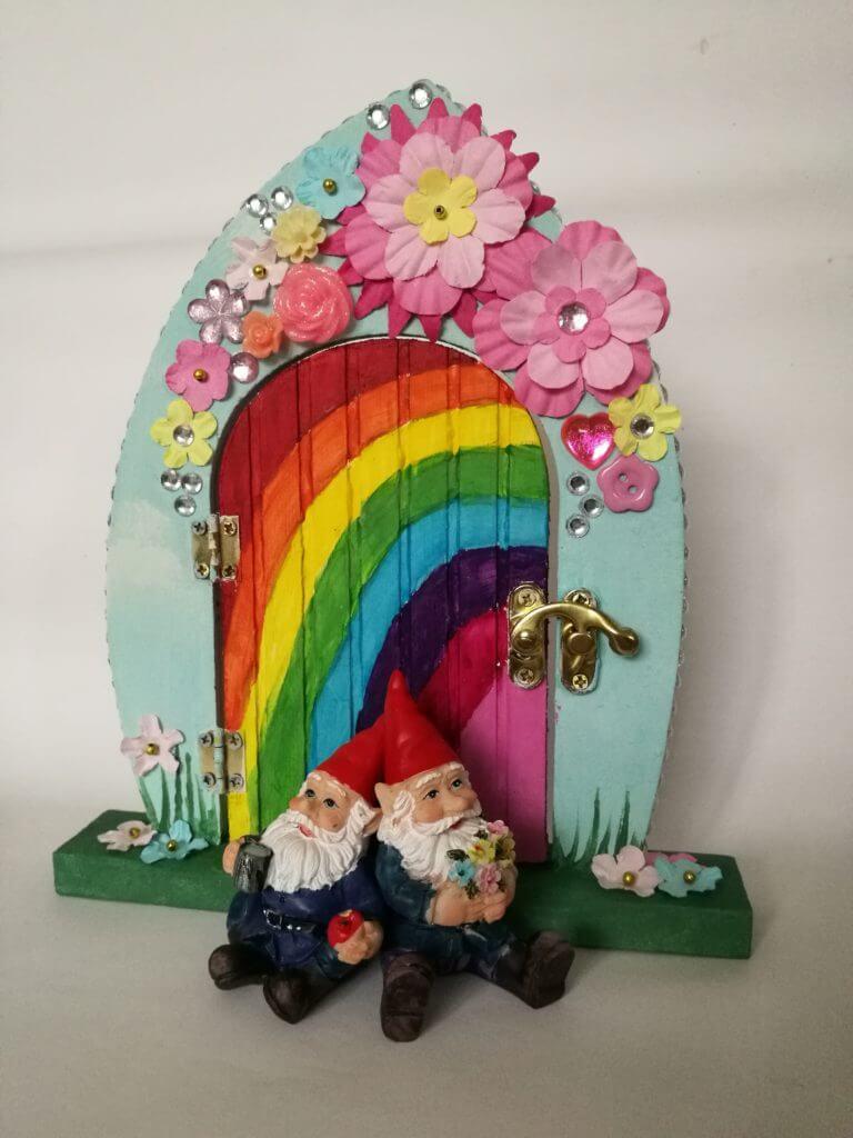 floral fairy door
