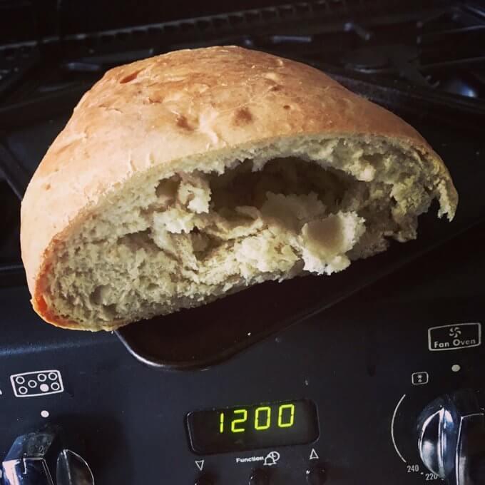 crusty dough