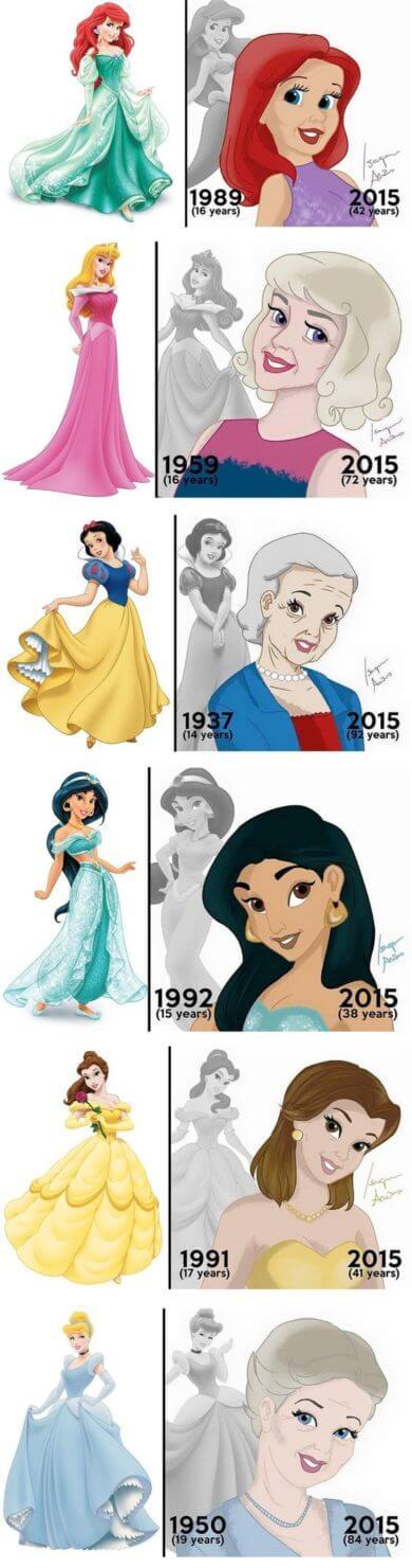 disney princesses present