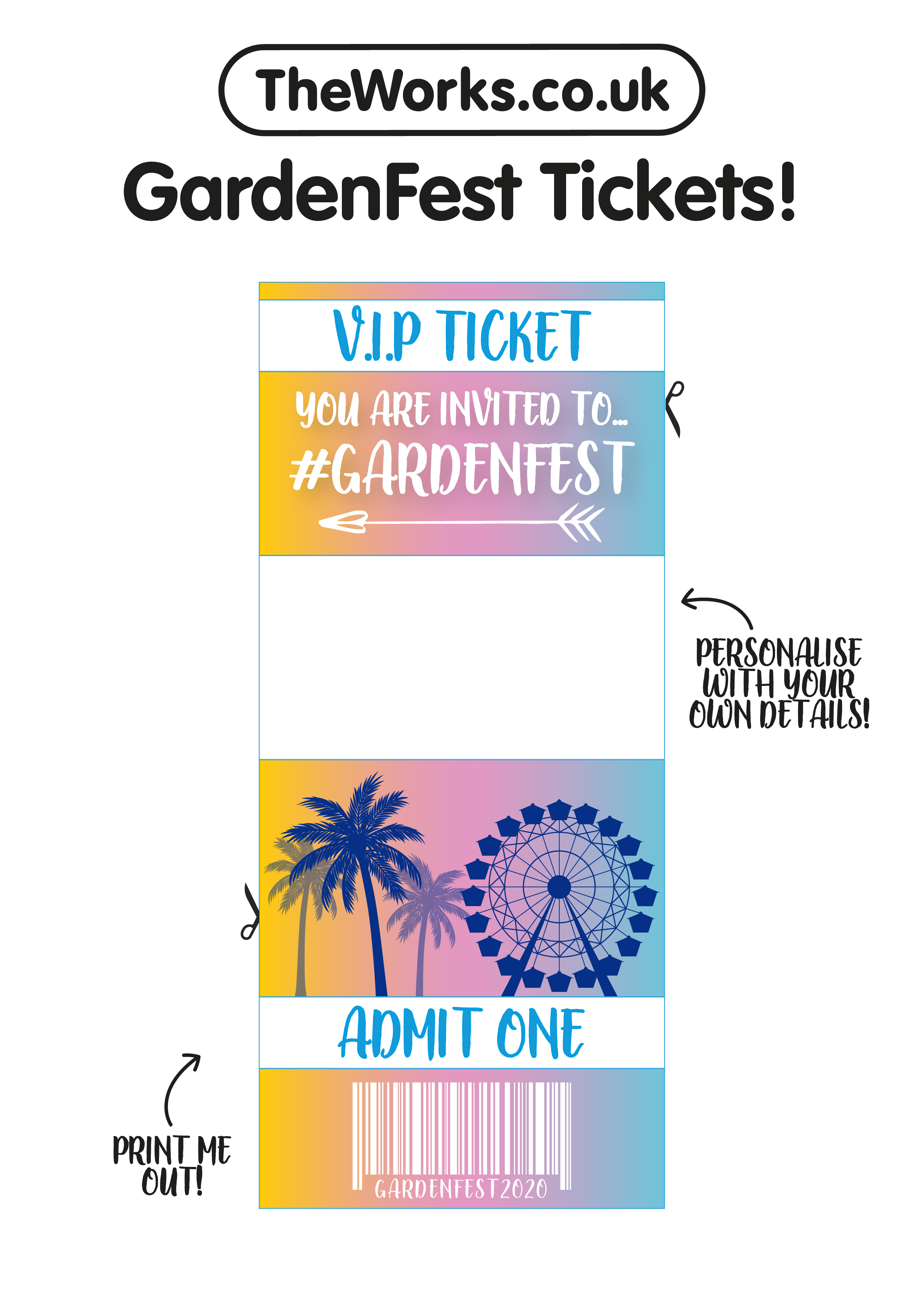 make your own festival tickets