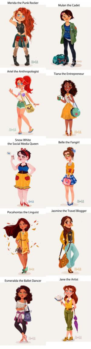disney princess modern jobs