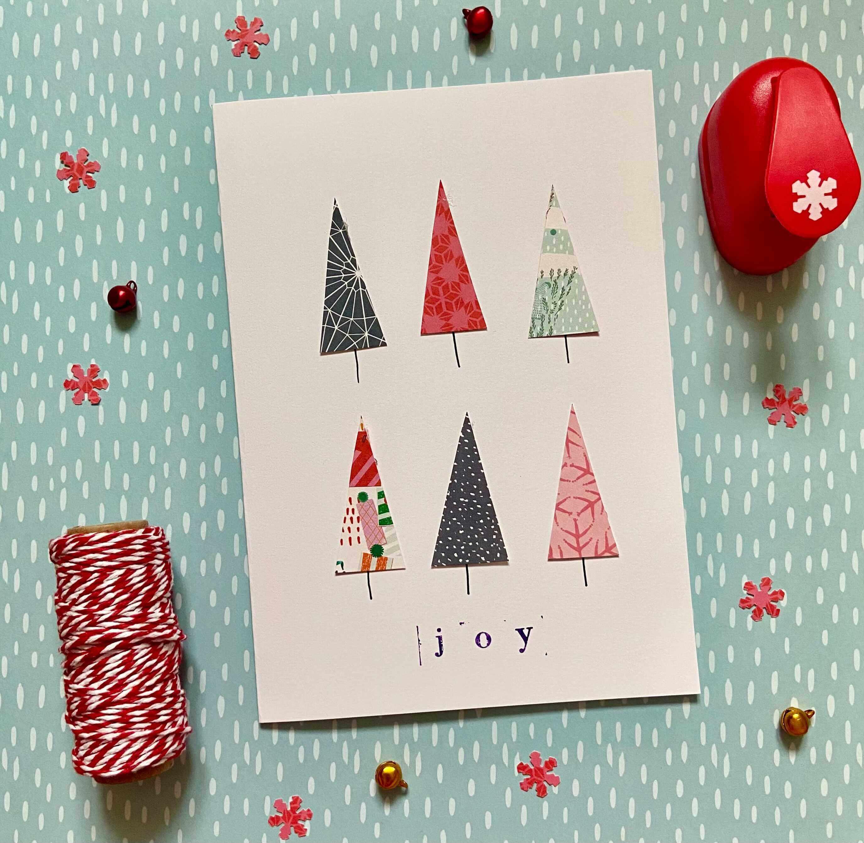 christmas tree homemade card